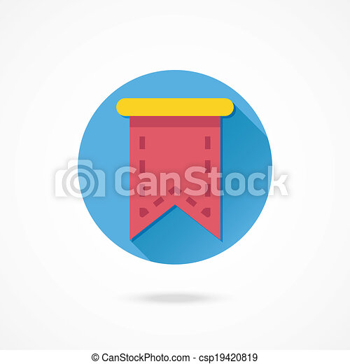 Vector Web Bookmark Ribbon Icon - csp19420819