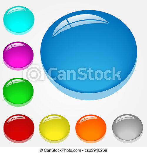 Vector Web Buttons - csp3940269