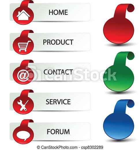 Vector web navigation - menu template - csp8302289