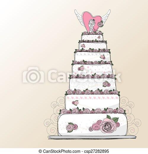 Vector Wedding Cake Design Eps Vectors Search Clip Art