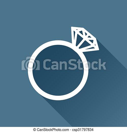 Vector Wedding Ring Icon Vector White Wedding Ring Icon On Dark