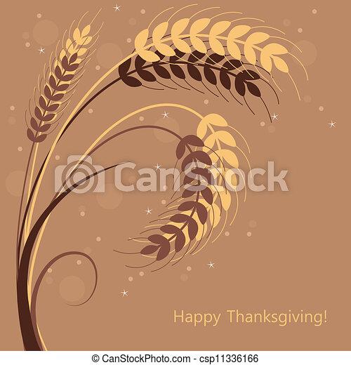 vector wheat ears - csp11336166