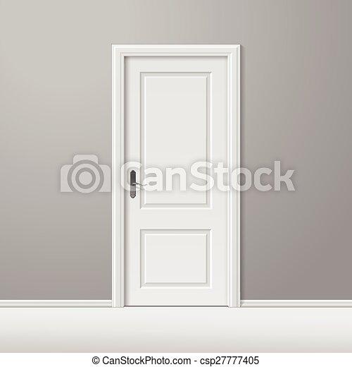 closed door drawing. Unique Door Vector White Closed Door With Frame For Drawing