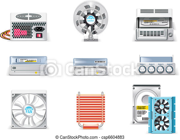 Vector white computer icon set. P.5 - csp6604883