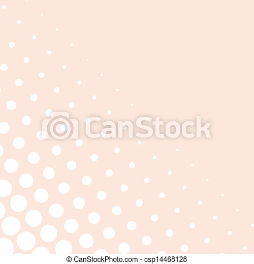 Vector white dots pink background - csp14468128