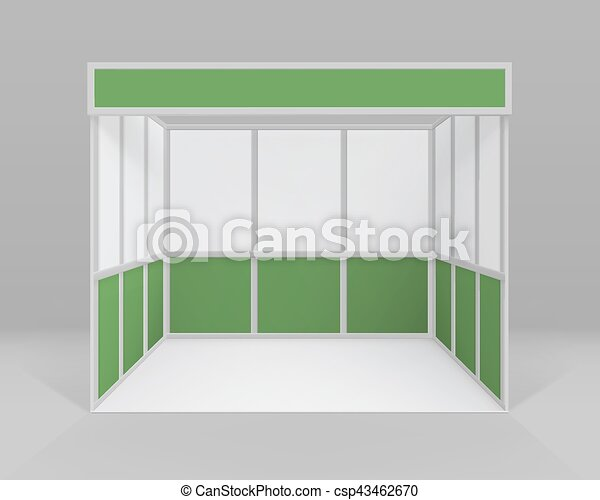 Exhibition Booth Blank : Blank empty event exhibition booth d stock illustration