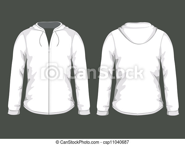 Vector White Hoodie Templates