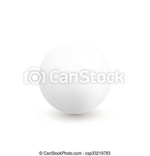Vector white sphere - csp33219783
