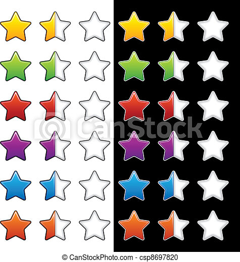 vector whole half and blank rating stars - csp8697820
