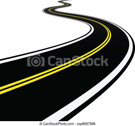 vector winding road clip art vector search drawings and graphics rh canstockphoto com road vector logo road vector eps