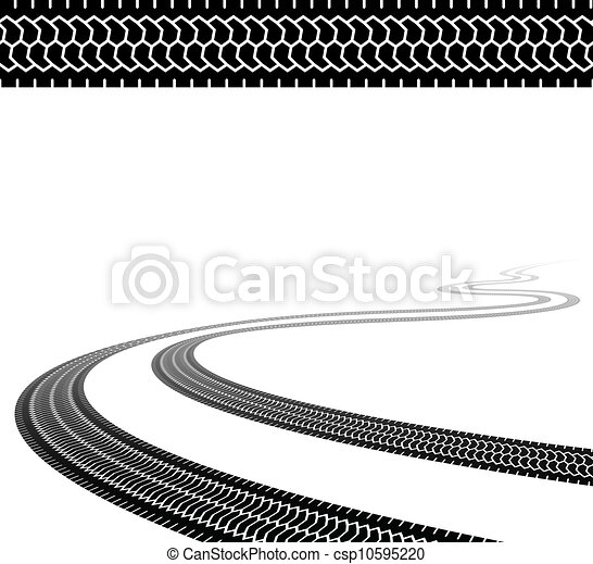 vector winding trace of the terrain tyres - csp10595220