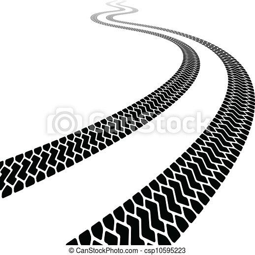 vector winding trace of the terrain tyres - csp10595223