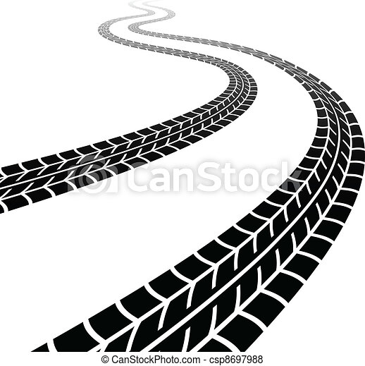vector winding trace of the tyres - csp8697988