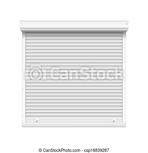 Vector Window with Rolling Shutters - csp16839287