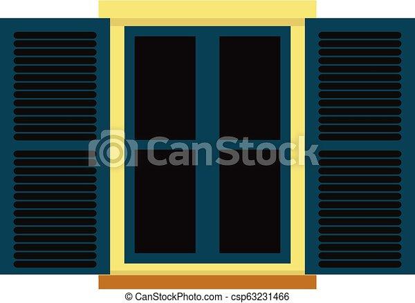 Vector window with shutters. - csp63231466