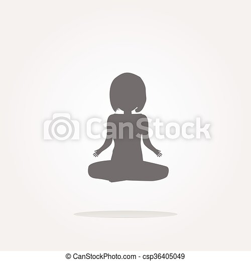 vector woman glossy web icon on white background - csp36405049