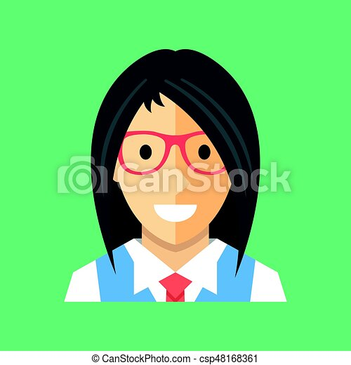 Vector Woman Icon Businesswoman Office Manager Banker Consultant