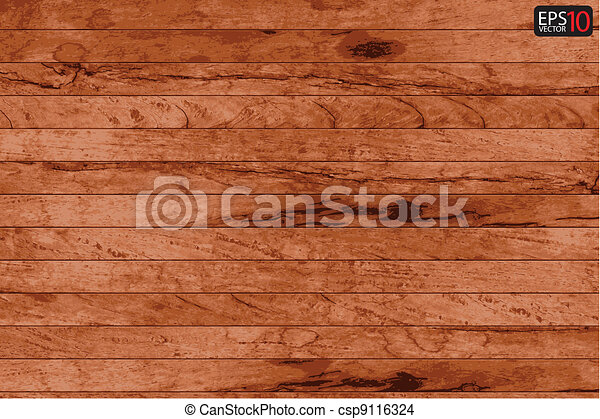 Vector wood plank background  - csp9116324