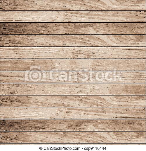 Vector wood plank background - csp9116444