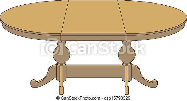 Vector wooden table - csp15790329