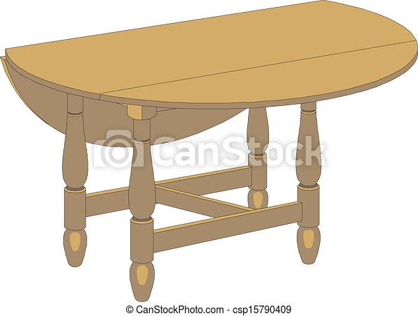 Vector wooden table - csp15790409