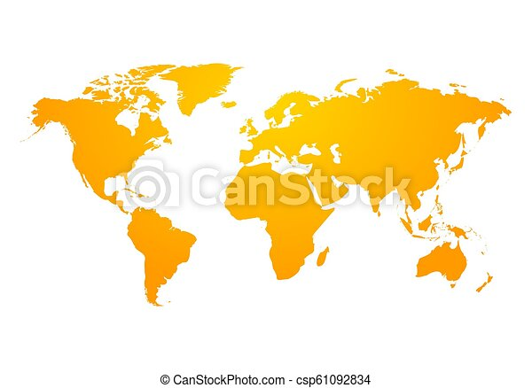 Vector world map global earth icon. America, asia, australia, africa, usa.  Abstract modern design of world map