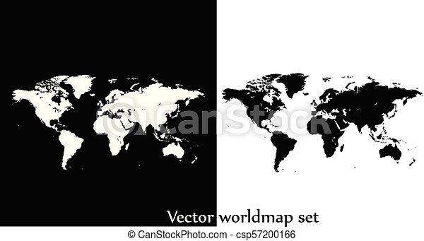 Vector world map illustration isolated over white and black vector world map illustration isolated over white and black background gumiabroncs Image collections