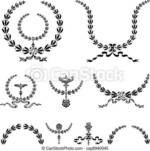Vector Wreath and Ornament Set - csp8940045