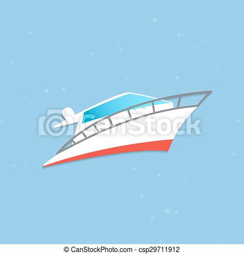 Vector yacht icon - csp29711912