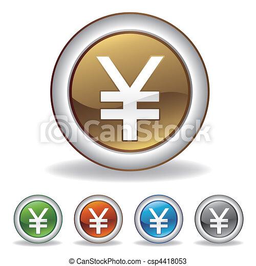 vector yuan icon - csp4418053