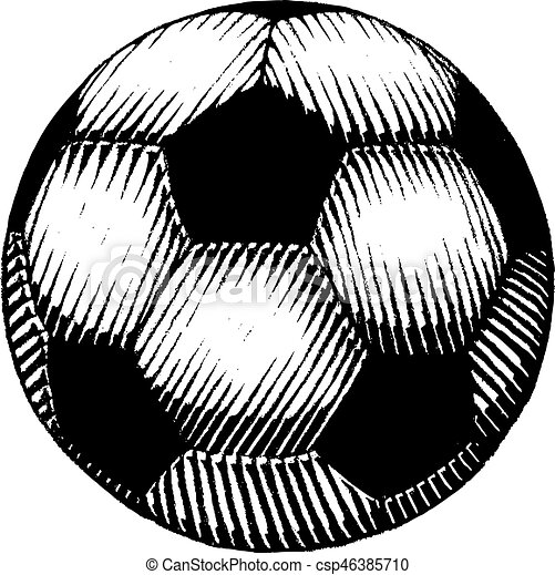 vectorized ink sketch of a soccer ball vector illustration of a rh canstockphoto com free soccer ball vector art soccer ball vector clip art free