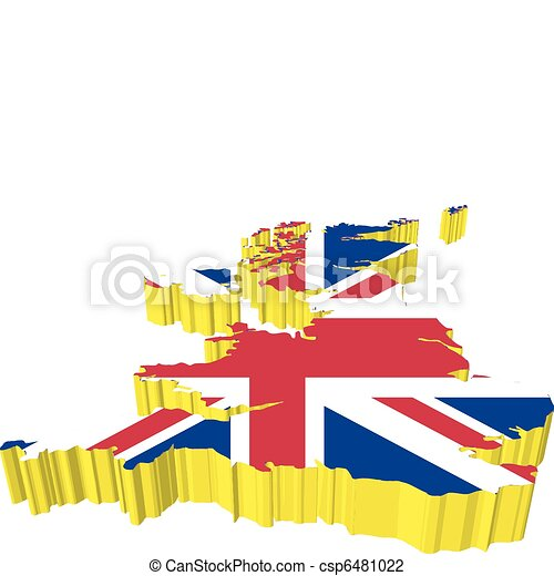 3d Map Of England.Vectors 3d Map Of England