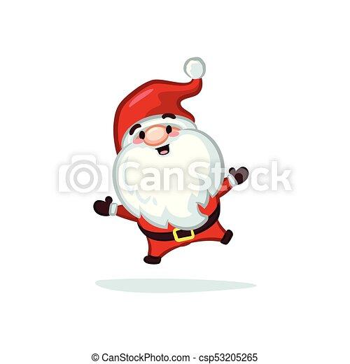 Vectores de Navidad - Santa Claus saltando - csp53205265