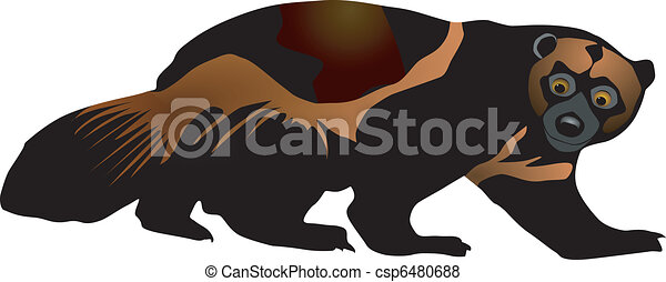 vectors wolverine on a white background rh canstockphoto com wolverine clips wolverine clipart black and white
