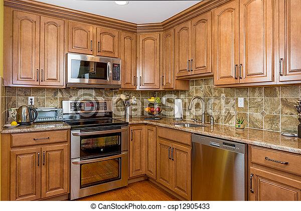 ved, cabinetry, kök - csp12905433