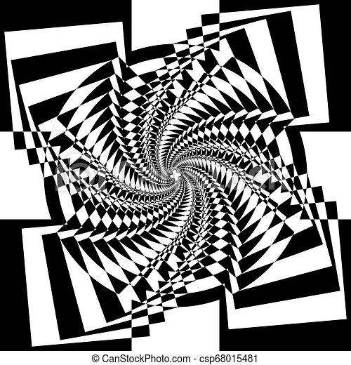 veelvoudig, abstract, perspectief, arabesk, toren, trap, binnen - csp68015481