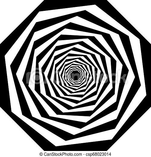 veelvoudig, trap, abstract, perspectief, arabesk, kolken, octogon - csp68023014