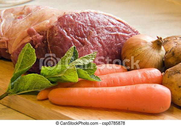 veg, carne - csp0785878