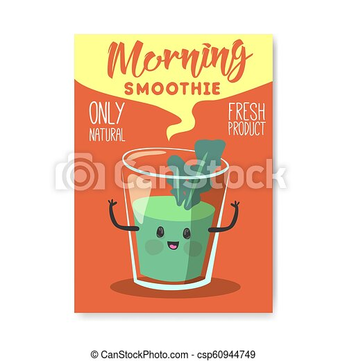 Vegan Day Poster Banner Flyer World Vegetarian Holiday Design With Natural Smoothie Healthy Food Concept Vector