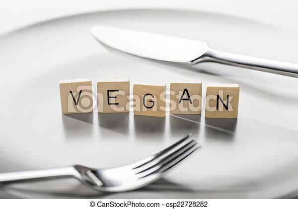Vegan diet - csp22728282