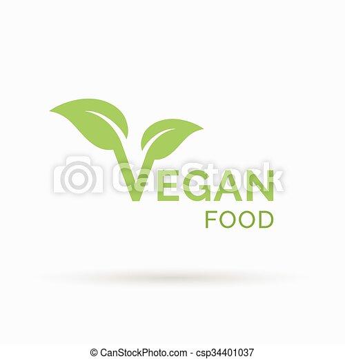 Vegan food icon design  Vector illustration