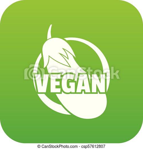 Vegan icon green vector
