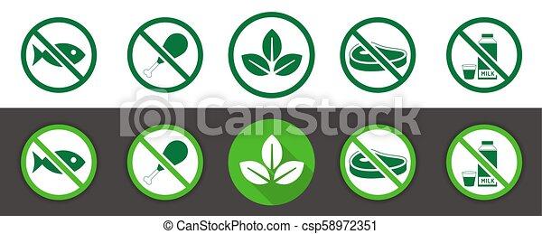 Vegan icon set