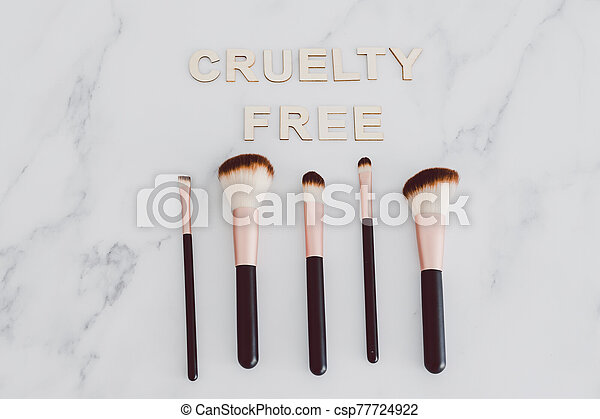vegan, les, beauté, poil, texte, référer, maquillage, synthétique, suivant, industrie, cruauté, produits, gratuite, brosses, usage - csp77724922
