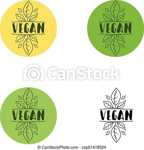 Vegan logo, icon