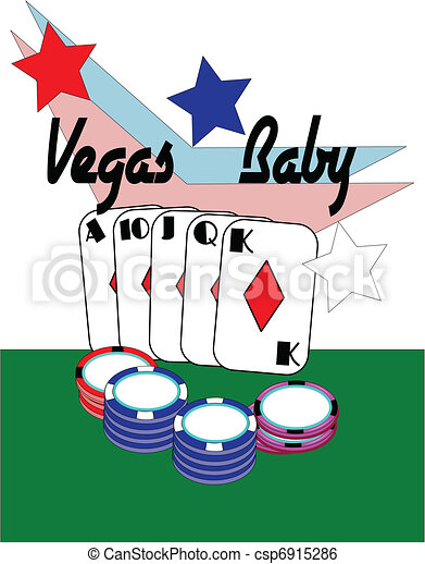 vegas baby conceptual for poker hand with chips at clip art rh canstockphoto com las vegas clipart las vegas clipart