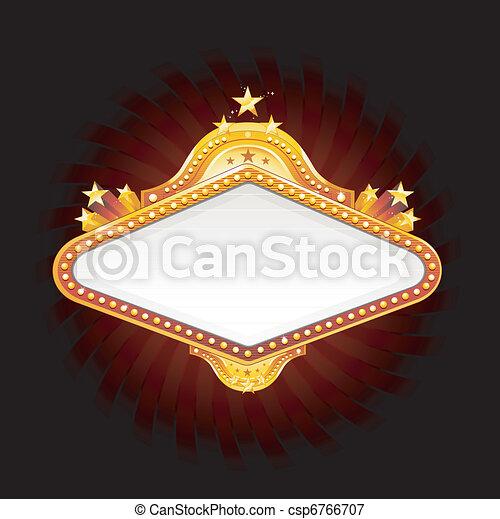 Una señal de bandera de Las Vegas - csp6766707