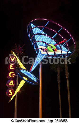 Una señal brillante de Las Vegas - csp19545858