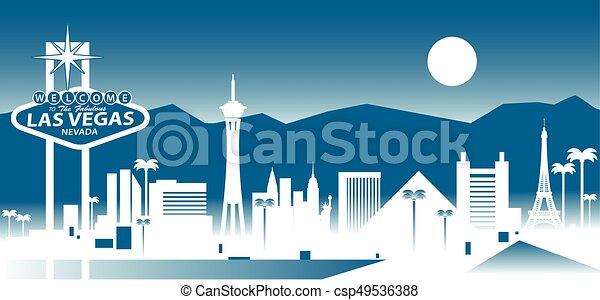 El horizonte de Las Vegas - csp49536388