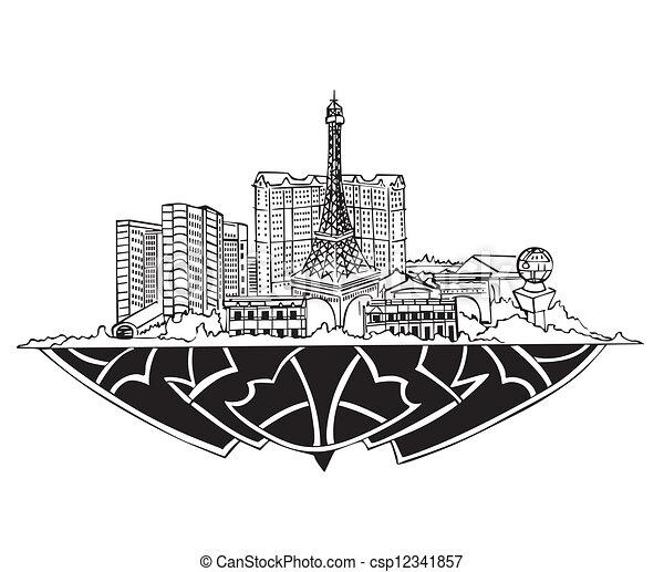 Las Vegas, Skyline NV - csp12341857
